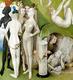 "Heironymus Bosch, ""The Garden of Earthly Delights"" (detail)"