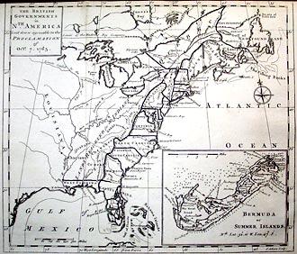 Map of North America, 1763