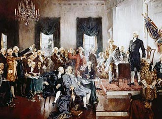 The Scene at the Signing of the Constitution, Howard Chandler Christy, 1940
