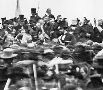 Abraham Lincoln at Gettysgurg, 1863