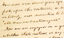 Abraham Lincoln. 'Nicolay Copy' of the Gettysburg Address, 1863