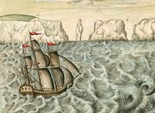 How long did it take to get across the Atlantic in the 1700s?