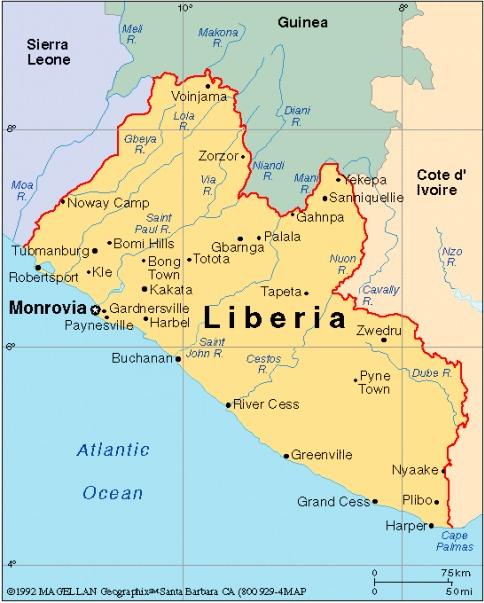 Liberia Enlarged The Image Of Africa In The Literature Of The - Liberia map