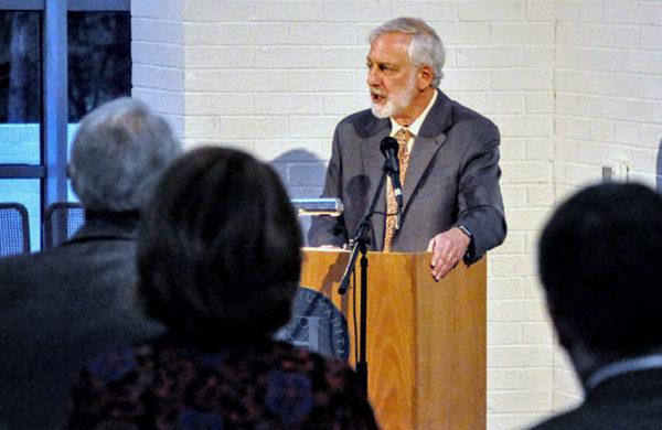 Robert D. Newman speaks at the National Humanities Center