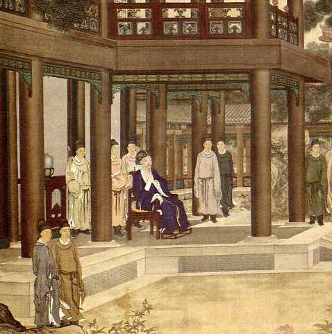 """""""Qianlong Viewing a Peacock Spreading its Tail"""" (detail), 1758"""