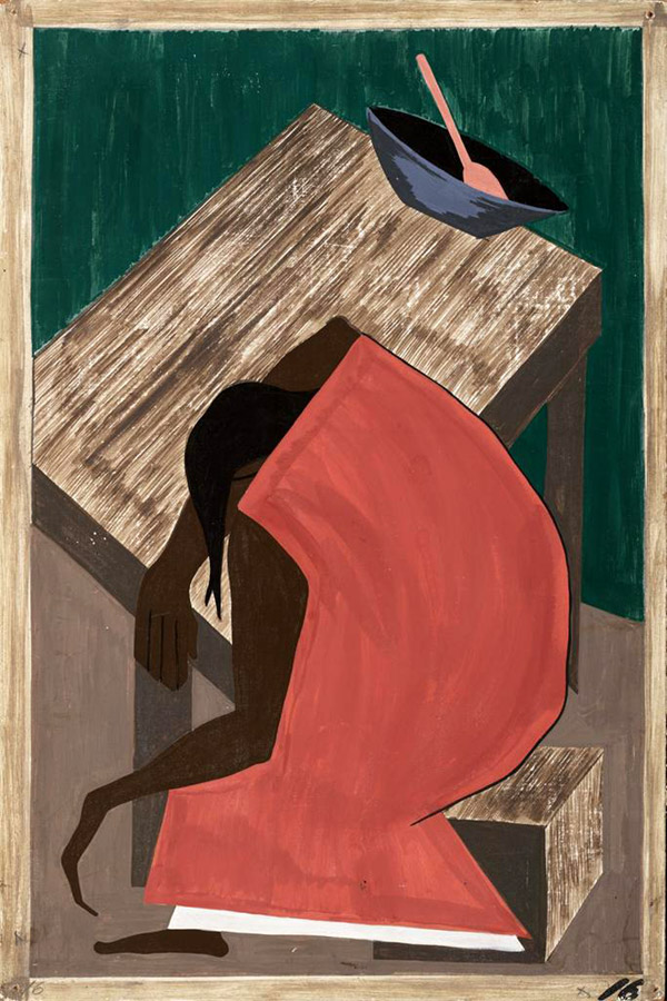 panel from 'The Migration of the Negro,' by Jacob Lawrence