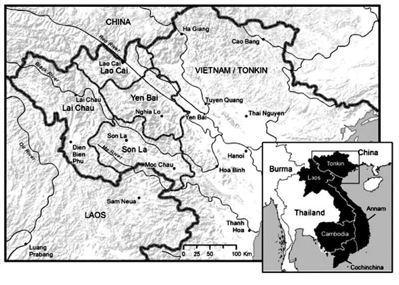 Vietnam Tonkin map