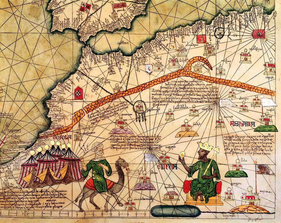 map of Mansa Musa