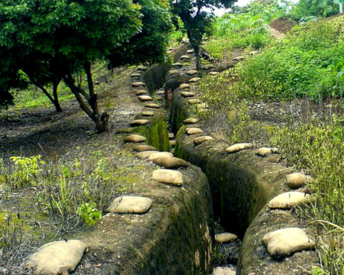 Trench bunker at Dien Bien Phu